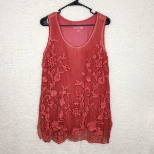 Soft Surroundings Embroidered Silk Tunic Size S
